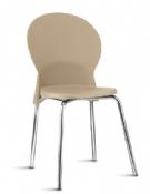 Cadeira Rigel LN Coletiva Fixa Cromada