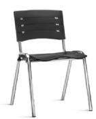 Cadeira Rigel NIS Coletiva Fixa Cromada